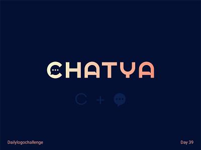 Chatya logo typedesign logotype dailylogo vector logo dailylogochallenge typo illustrator graphic design
