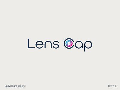 Lenscap logo typelogo logotype dailylogo illustration vector logo dailylogochallenge typo illustrator graphic design