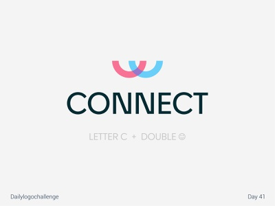 Connect logo logosketch daolylogo illustration vector logo dailylogochallenge typo illustrator graphic design