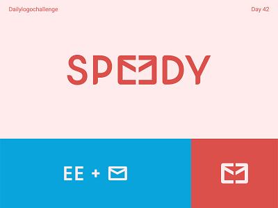 Speedy logo logotype typedesign logosketch dailylogo illustration vector logo dailylogochallenge typo illustrator graphic design