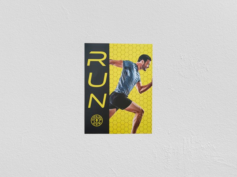 Gym Running Poster Print print design printing print graphic training fitness poster running gym pattern illustrator photoshop branding design