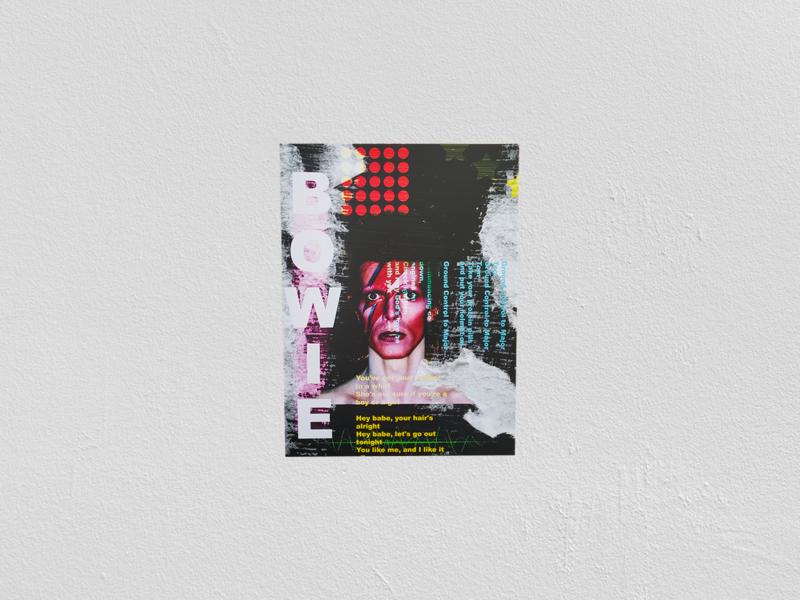 David Bowie Poster Print art typography design poster art poster music graphic design photoshop david bowie print design printing print