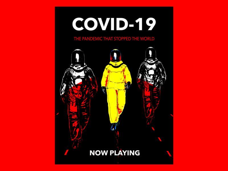covid-19 graphic design poster movie poster health pandemic disease covid-19 photoshop design