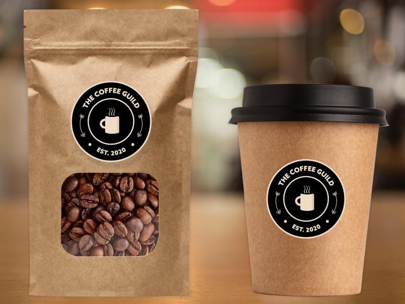 coffee guild branding coffee shop logo badge logo design coffee logo illustrator photoshop design branding