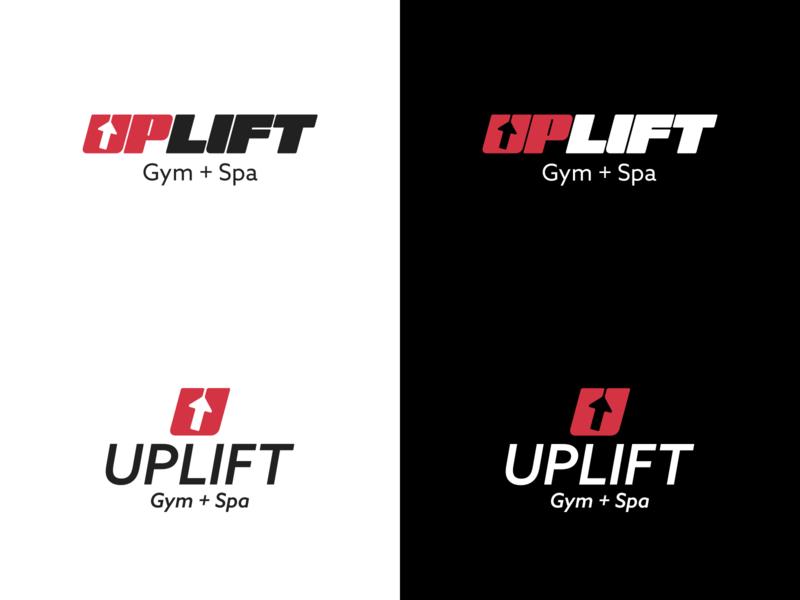 Uplift logo logotype spa logo spa gym logo gym typography logo illustrator vector branding design