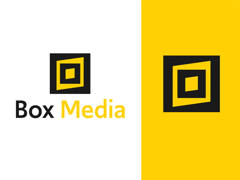 Box Media logo typeface graphic design logo design typography logo illustrator vector branding design