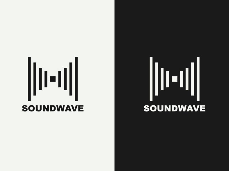 SOUNDWAVE Logo logos design music logo design adobe illustrator illustrator vector branding typography logo