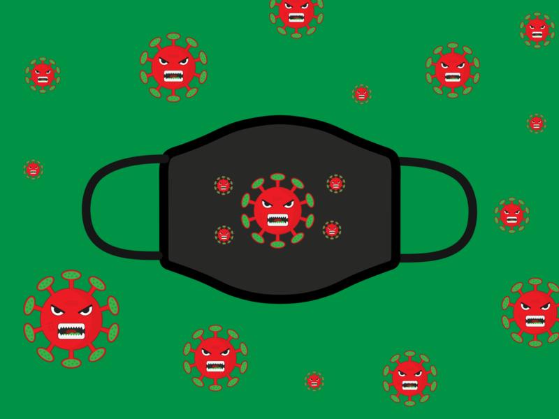 Covid-19 Face Mask Design Challenge corona virus virus illustrator rebound challenge coronavirus covid-19 facemask branding design