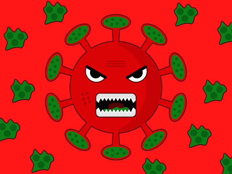 COVID-19 virus monster monster virus coronavirus covid-19 art illustrator vector design