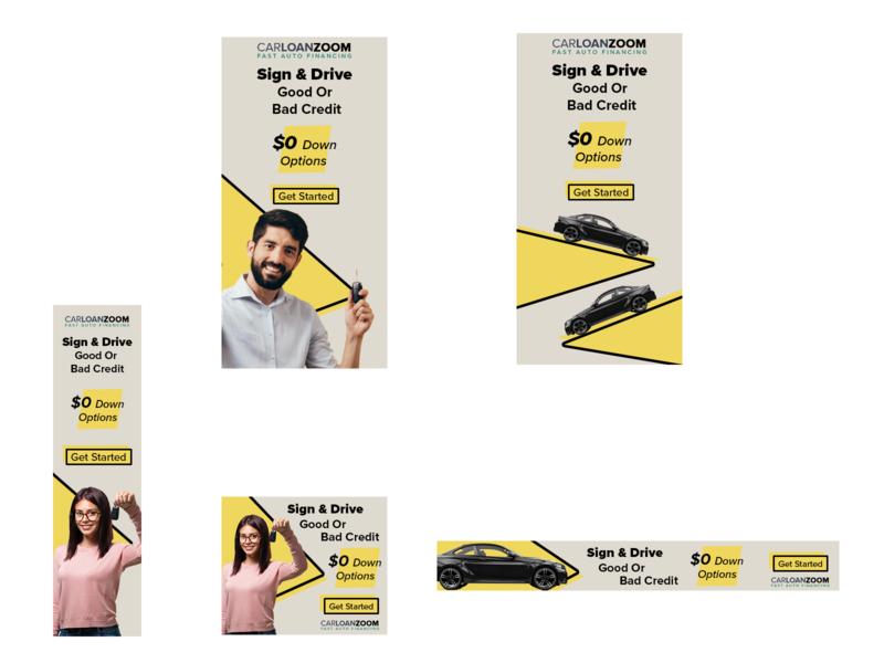 Display Ads web design branding adobe suite photoshop graphic design ads banner loan loans marketing display ad display ads