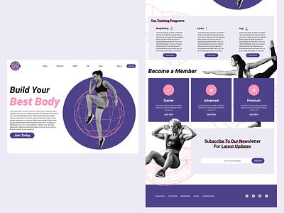 Fit Life Landing Page health web design fitness website landing page ui branding design
