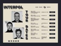 Interpol Band Website Concept