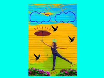 Woman and Umbrella V2