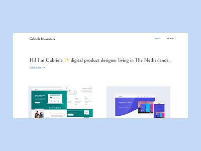 New Portfolio minimal ui ux product designer desktop personal website portfolio