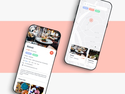 Restaurant recommendation app profile map restaurant app restaurant recommendation mobile uidesign ux ui