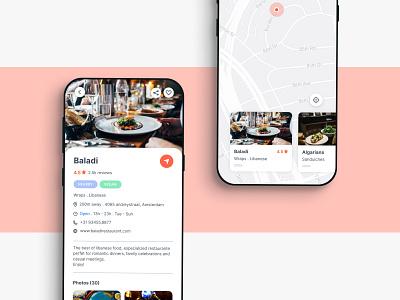 Restaurant recommendation ap map restaurant app restaurant recommendation mobile app mobile app ux ui