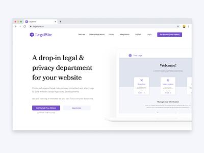 LegalSite landingpage ccpa gdpr privacy legal header homepage webdesign web ux landing uiux ui