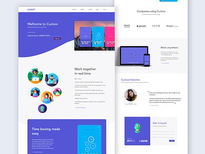 Cuckoo Landing Page ux typography design ui creative studio ui design challenge responsive design visual design web design app design landing page concept ui ux design uidesign