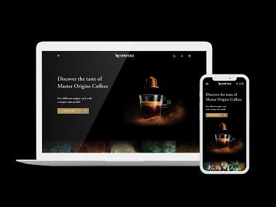 Nespresso website redesign ui uidesign ui design landing page ux design desktop redesign website coffee nespresso