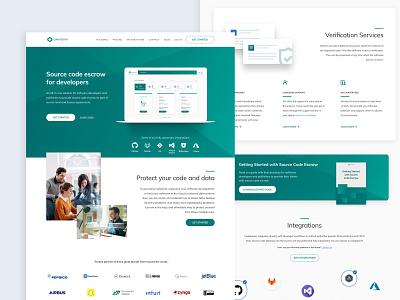 Codekeeper landing page tech redesign ux ui desktop landing page landing website