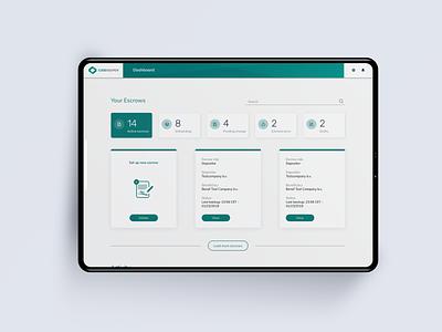 Codekeeper dashboard startup developer escrow tech ui ux product design dashboard