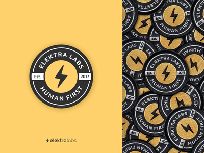 Elektra Labs - Team Patch design vector brand identity healthcare bolt lightning bolt lightning swag patch branding