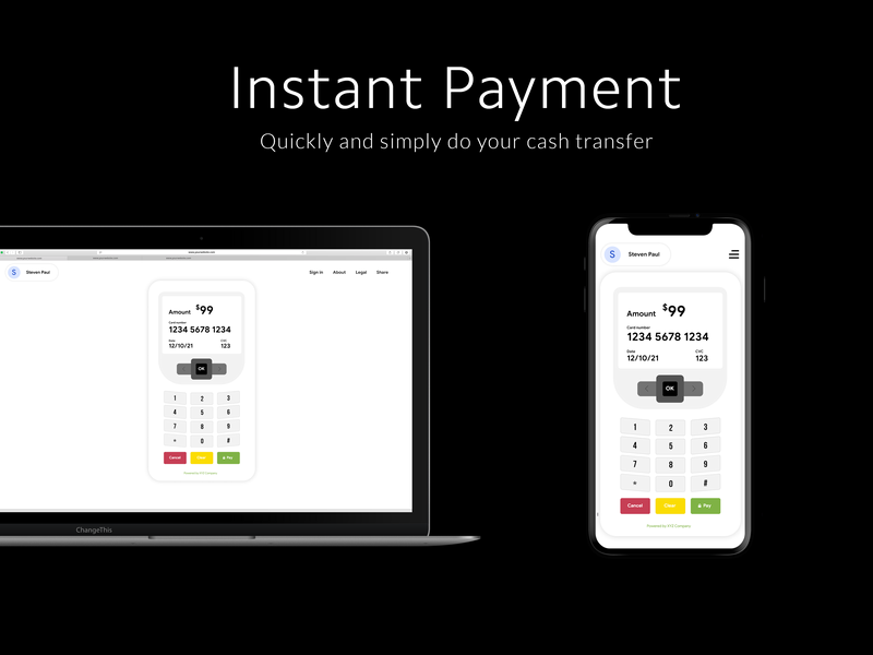 Instant Payment - Quickly and simply do your cash transfer