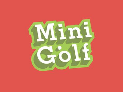 Mini Golf Event Logo