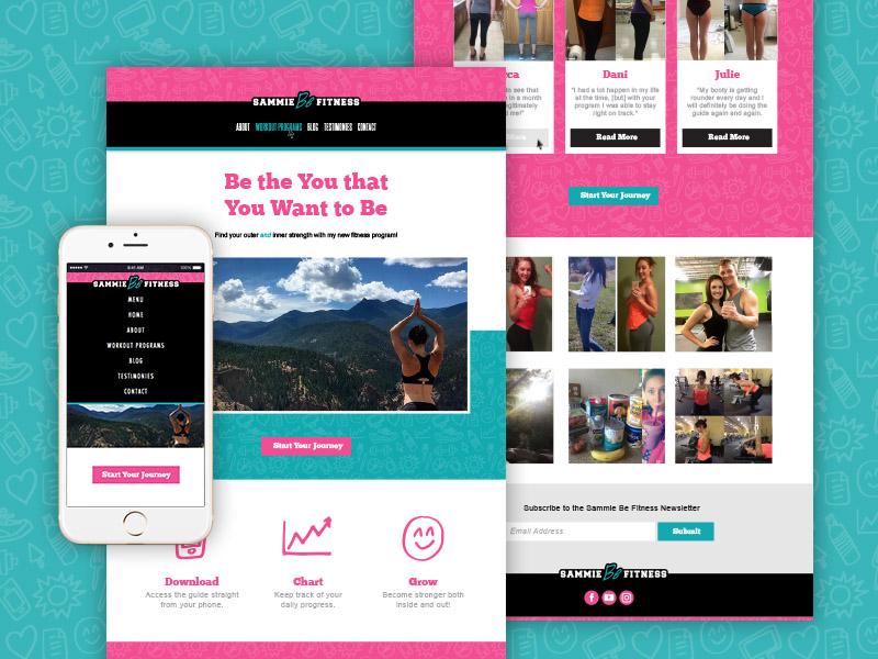 Sammie Be Fitness Responsive Website dreamweaver css html branding design tablet desktop mobile website responsive