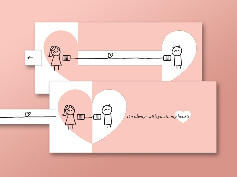 long distance relationship card by angela manning dribbble