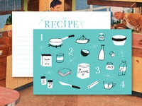 1950s Inspired Recipe Cards