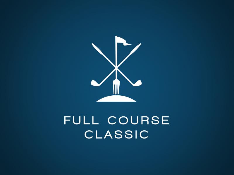 Golf Fundraiser Logo golfing event fundraiser hunger mound club fork golf