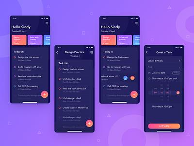 To-do list app app ux design ui