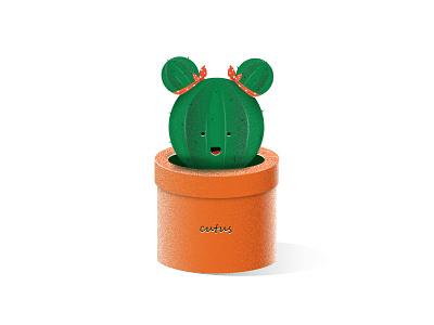 cutus baby designer design vector digitalpainting green flowerpot flower cactus cute illustration illustrator dribbble