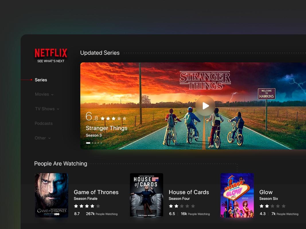 TV App - Netflix by Zahra Sharafi on Dribbble