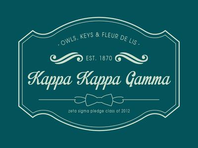Kappa Kappa Gamma stamp