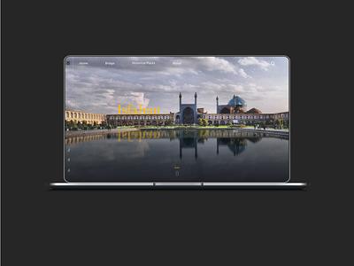 landing page isfahan design app ux ui adobe xd
