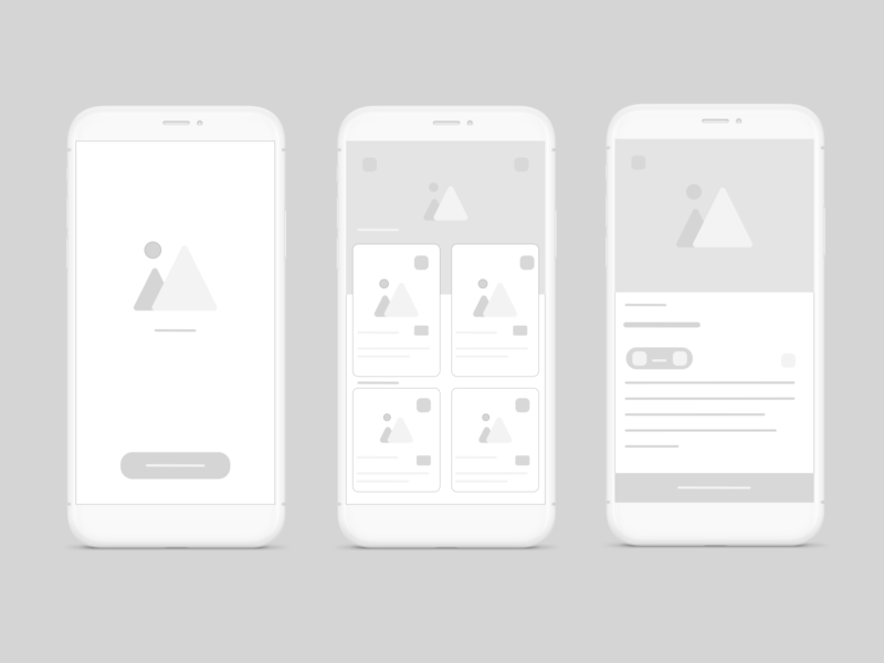 wireframe coffeeshop App