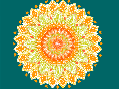 Mandala orange mandala design mandala art mandala illustration design