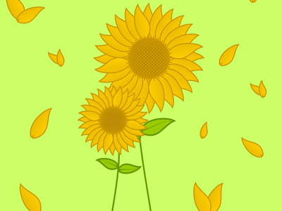 Sunflower flower sun yellow orange illustration adobe illustrator design sunflower