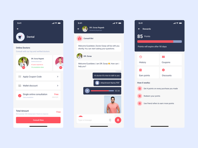 Pharmacy and Consultation App clean design chat medicine figma doctor consultation rewards medical app pharmacy app design mobile ui mobile design ux ui designer ui design ux design ui ux ui design