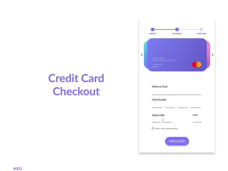 Daily UI #002 - Credit Card Checkout flat ux ui design app daily ui challange
