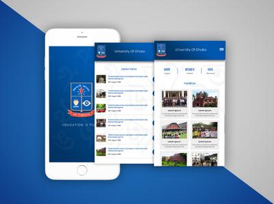 Dhaka University App Design