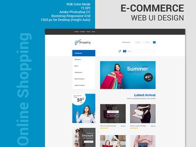 E-Commerce Web UI Design