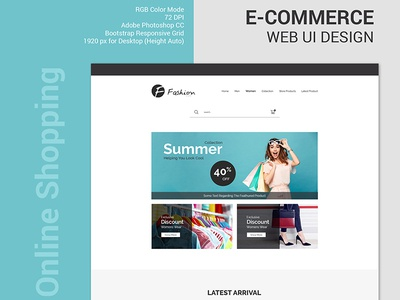 E-Commerce Web UI Design 2