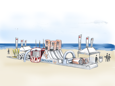 Be The Beer: Beach Challenge - concept molson molson canadian campaign beer beach inflatable
