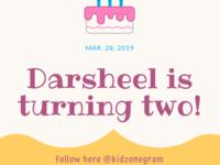 Darsheel Is Turning Two