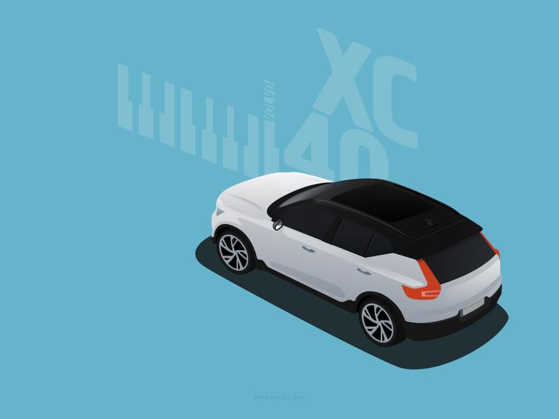 Cars  |  Volvo XC40 adobe illustrator vectorart poster carillustration illustration