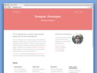 Personal Portfolio Redesign (Fall 2014)
