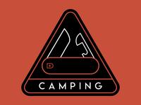 Camping Knife Badge